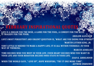 February Inspirational Quotes